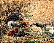 Seven Cows by Stream 1863